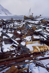 Abandoned whaling station, Grytviken, South Georgia Island