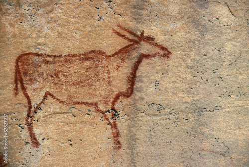 Rock painting of eland, Tsodilo Hills, Botswana