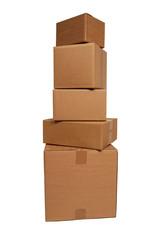 stapel kartons