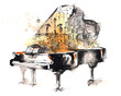 Leinwandbild Motiv grand piano
