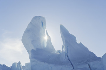 Iceberg along the Antarctic Peninsula near Snow Hill Island in the Weddell Sea.