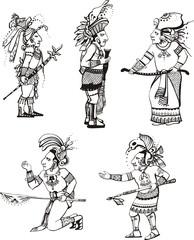Maya people characters