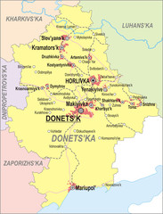 Map of Donetsk Oblast