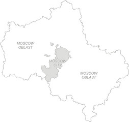 Outline map of Moscow region