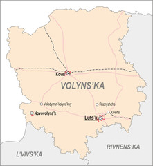 Map of Volyn Oblast