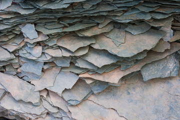 Slate outcropping, Arctic National Wildlife Refuge, Alaska, USA
