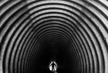 Pedestrian tunnel, Olympic National Park, Washington, USA