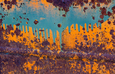 Rusty car door, Shaniko, Oregon, USA