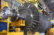 Leinwanddruck Bild - Turbine rotor at workshop