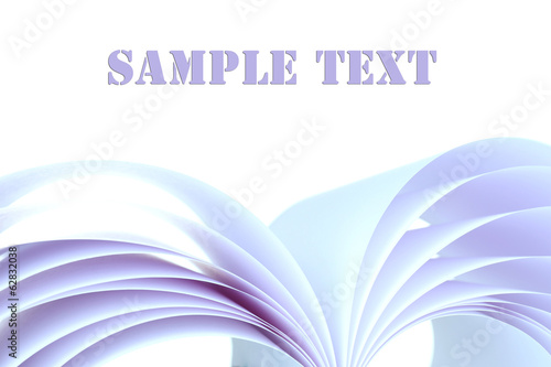 White paper isolated on white