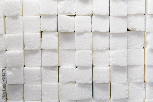 Wall of stacked sugar cubes