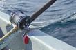 heavy fishing reel on the shipboard