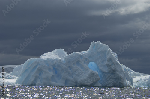 Iceberg along the Antarctic Peninsula.