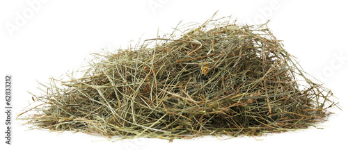 Hay, isolated on white
