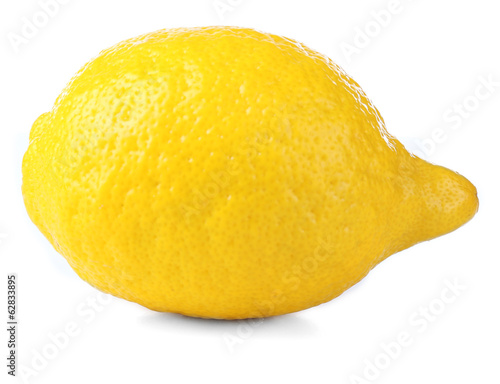 Fresh lemon, isolated on white