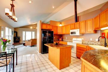 Gold kitchen room
