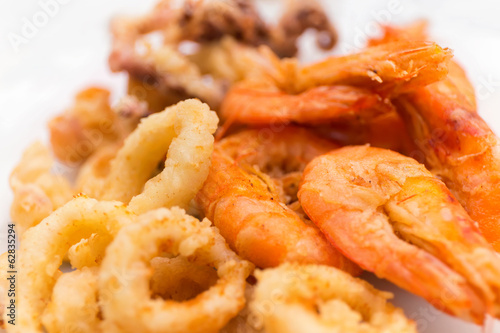 fried shrimp squid
