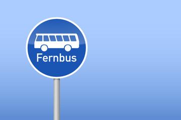 verkehrszeichen fernbus I