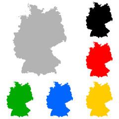 deutschlandkarte bunt I