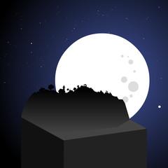 Nighttime landscape