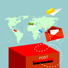 good wishes to the world, mail