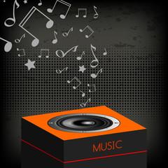 Music, loudspeaker