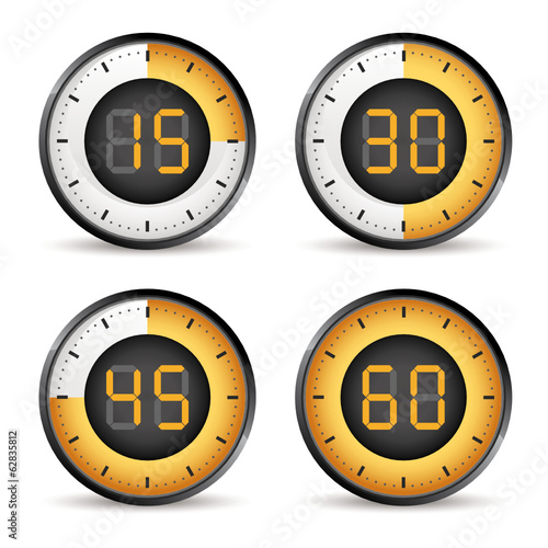 set of four timers, 15,30,45,60 dial