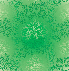Floral Green Verdure Springtime Seamless Pattern texture EPS-8