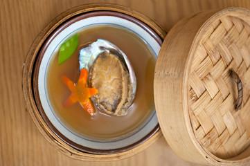 Japanese style abalone soup