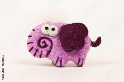 sweet and soft pink elephant