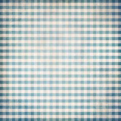 Blue grunge gingham picnic tablecloth background