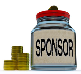 Sponsor Jar Shows Sponsorship Benefactor And Giving