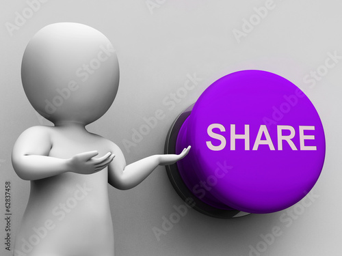 Share Button Means Sharing Recommending And Feedback