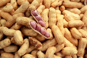Peanut in the market on sale
