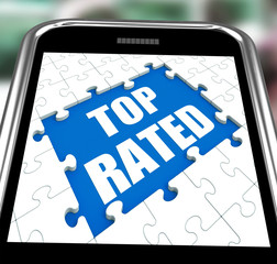 Top Rated Smartphone Means Web Number 1 Or Most Popular