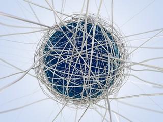 Netzwerk verbundener Globus