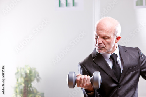 weightlifting business man in action