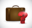 suitcase and question mark. illustration design