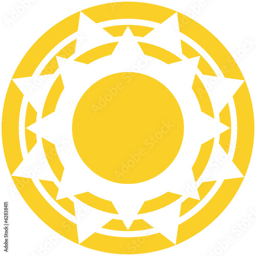 Vector Abstract  Sun Icon Isolated On White Background