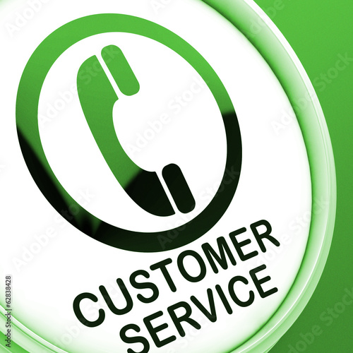 Customer Service  Button Means Call For Help