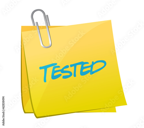 tested post message illustration design