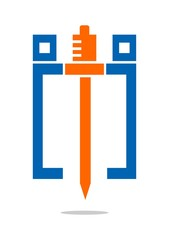 Knight Blue Orange logo