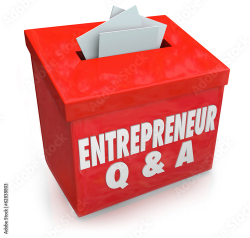 Entrepreneur Questions Answers Box Information Self Employment
