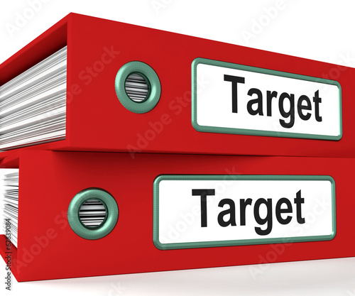 Target Folders Show Business Goals And Objectives
