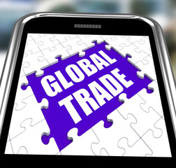 Global Trade Smartphone Shows Web International Business