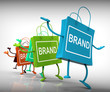 Постер, плакат: Brand Bags Represent Brands Marketing and Labels