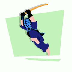 Kendo Kids Illustration