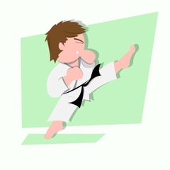Karate Kid Illustration
