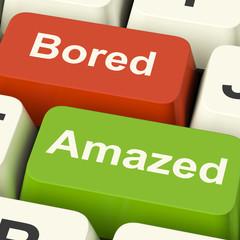 Bored Amazed Keys Shows Boredom Or Amaze Reaction