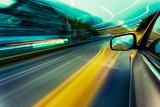 Fototapety speed car